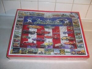American Automobile 1000 Pc mostly SEALED BOX White Mountain Jigsaw Puzzle