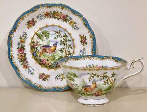 Gorgeous Vintage Royal Albert Chelsea Bird Bone China Tea Cup & Saucer Set