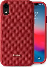 Evutec Case Compatible with iPhone XR, Ballistic Nylon Protective Case (Red)