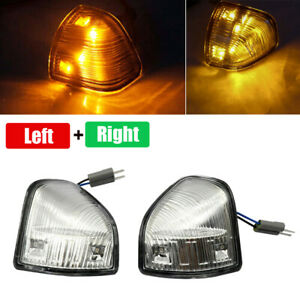2X Clear Lens Amber LED Side Mirror Indicator Lamps For Dodge Ram 1500 2500 3500