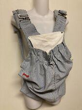 Original Vintage Snugli Baby Carrier Seersucker Striped USA Handmade Blue White