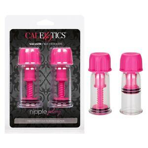 Nipple Play Vacuum Twist Nipple Suckers Pink - Breast Pump Enlarger Enhancer