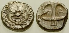 026. Greek Silver Coin. THRACE. AR Drachm. Gorgoneian / Anchor. VF