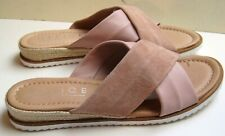'Office' suede & leather slip on mules. light Dusky pink 39 new.