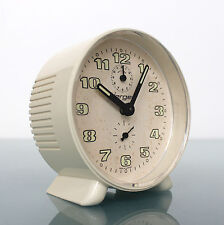 JERGER Alarm Special Clock RARE HOLLOW FRONT! Space Age Mid Century Germany Desk