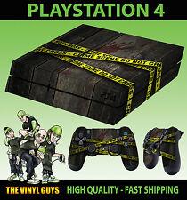 PS4 peau crime scene police Tape csi fbi autocollant neuf + pad decals vinyl lay plat