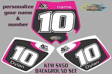 2002-2008 KTM 50SX SX50 PINK DECALS GRAPHICS STICKERS PRINTED RACE BACKGROUNDS