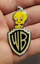Vintage 1993 metal WB Tweety Bird Warner Bros keychain charm Free Shipping