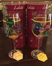 "TWO (2) LOLITA LOVE MY WINE  ""Aged to Perfection"" 15 Oz Wine Glass NEW In Box"