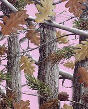 Queen Size The Huntsman Collection Luxury Plush Raschel Blanket--Camo Trees pink