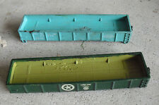 Lot of 2 Vintage 1980s Ho Scale Ahm Gondola Car Shells Long Tom P&Le