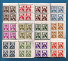 Nazi Germany POST Third 3rd Reich B&M Eagle over Swastika stamp blk set MNH