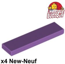 Lego - 4x Tile Plate Smooth 1x4 with Groove Lavender Medium Lavender 2431 New