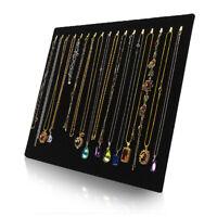 US Velvet Jewelry Display Rack Necklace Bracelet Stand Organizer Holder Storage
