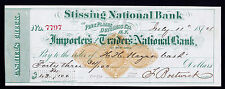 Bank Check, RN-D4, Stissing National Pine Plains Dutchess Co. NY - EXTRA PEARL