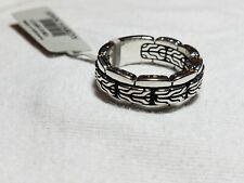 John Hardy Men's Sterling Silver Classic Chain Band Ring Size 10