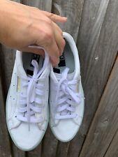 Adidas Sleek women's leather white trainers size uk 4.5