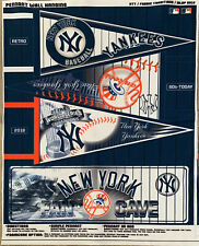 """New York Yankees Fan Cave 3 Different Pennants 27 Time Campions  37"""" X 48"""" Judge"""