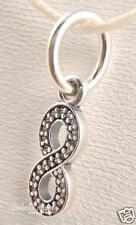 SYMBOL OF INFINITY Authentic PANDORA Sterling Silver/CZ Dangle/Pendant/Charm NEW