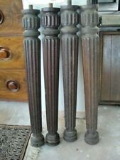 Vintage Column Mahogany Four Poster *PART* BED POSTS / 73cm Tall x 4 ~reclaimed