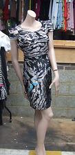 Lipsy UK 10 Gorgeous MultiColour Faux Satin Cap Sleeve Sexy Dress
