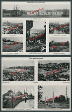 Constantinople Ottomans Dolmabahçe Galata houses eyub port ships Mosque 1915