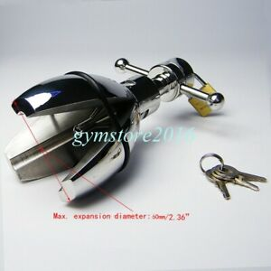 Adjustable Stainless Steel Trillium Chastity Device Locking opening Plug Hot New