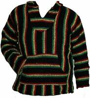 Jamaica Baja Hoodie Mexican Hippie Surfer Poncho Skater Sweater Drug Rug