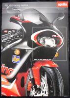 APRILIA RS 125 RACING REPLICA MOTORCYCLE SALES BROCHURE 2000