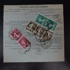 COLIS (PACCHI) POSTALI NEWSLETTER D'SPEDIZIONE ALSACE LORRAINE BUHL CAD 1926
