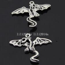 10pc Retro Charms Pterosaur Animal Pendant Beads Jewellery Making  PL330