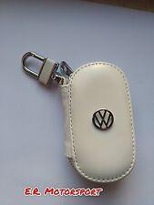 Portachiavi in cuoio BIANCO contenitivo Volkswagen Golf Passat Scirocco Polo