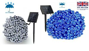 100/200 LED Solar Power Fairy Garden Lights String Outdoor Party Wedding UK