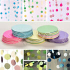 Hanging Paper Garlands Flora Chain Wedding Party Decoration Round Shape CA
