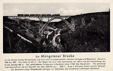 AK Müngstener Brücke gel. 1955 Eisenbahn Solingen Remscheid