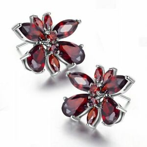 Amazing Garnet   earrings  925 silver