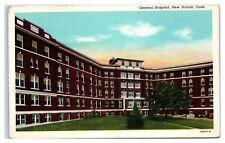 Mid-1900s General Hospital, New Britain, CT Postcard