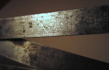 Rare Machinist Ferodo Bremsmaterial Folding Metal Ruler 1 Meter & Inches Vintage