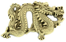 Dragon Solid Brass Belt Buckle