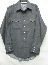 W3375 Wrangler Black Snap Up Long Sleeve Shirt Men L