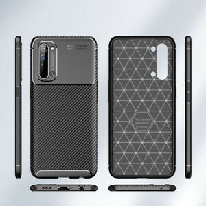 OPPO FIND X2 LITE Slim Carbon Fibre Shockproof Case Cover + LCD Screen Guard