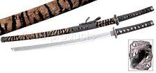"40"" Tiger Katana Sword Carbon Steel Blade Good Quality Collectible Samurai Ninja"