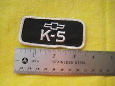 Vintage K 5 Blazer  Chevrolet  Dealer   Racing Uniform Patch