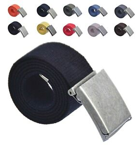 Stoffgürtel Canvas Gürtel 100-150 cm Klappverschluss Antik 4 cm breit K-KLP