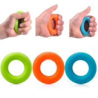 1x Rubber Hand Grip Forearm Finger Strengthener Muscle Power Training Ring Tool