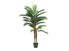 EUROPALMS 120cm Kentia Palme mit Palmfaserstamm Kunstpflanze Dekopalme Dekoblume