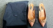 "Kurt Geiger Shoes Taupe 'Eileen' Slingback Bow Front Taupe 4"" Heel UK 7 EU 40"