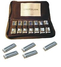 Seydel 1847 Clasic or Silver 12 Harmonica Professional Set w/Steel Reeds SAVE $$