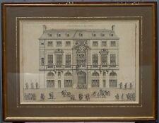 Jean Marot - L'hostel de Beauvais Rue Saint Antoine - Gravure XVIIe? XVIIIe s.