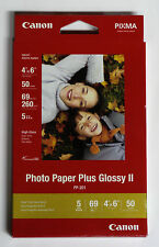 Canon OEM 4x6 50 glossy photo printer paper PP201 for MX300 MP190 iP1800 iP2600